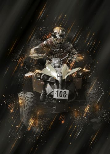 Motocross Extreme Sports  Canvas Framed Wall Art - 34